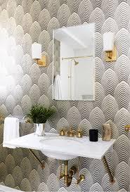 funky bathroom wallpaper ideas living gazette barbara resende decor home tour casa deco
