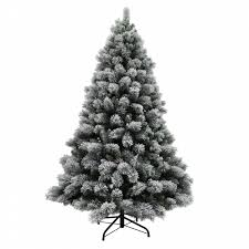 donner u0026 blitzen 7 5 u0027 lightly flocked buchanan pine christmas tree