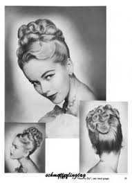 evening hairstyles for over 50s 1950s atomic hairstyle book create 50s long hairstyles ingerid