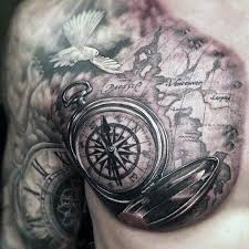 35 amazing compass designs tattoos era