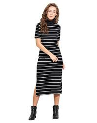Black And White Striped Bodycon Dress Black N White Stripes Dress Buy Latest Collections Localqueen