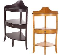 Accent Table With Drawer Thomas Pacconi Corner Accent Table With Drawer U2014 Qvc Com