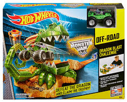 monster jam monster truck amazon com wheels monster jam dragon arena attack playset