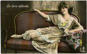 old photo french woman on settee the graphics fairy