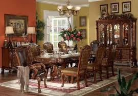 dresden cherry oak finish traditional formal dining table 6
