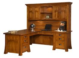 Wood Corner Desk With Hutch Hutch Top Desks