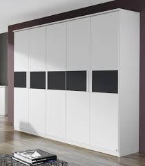 armoire chambre armoire adulte design blanche 5 portes carcassonne armoire