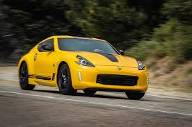 nissan yellow 2018 nissan 370z heritage edition keeps coupe alive motor trend