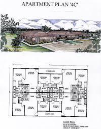 catchy collections of 4 plex apartment plans three unit triplex