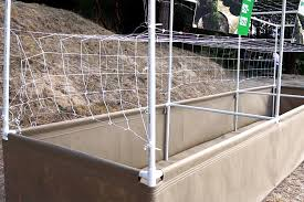 Pvc Pipe Trellis Raised Beds Grassroots Fabric Pots