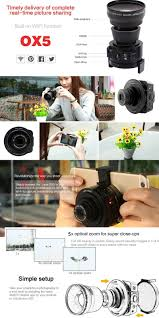aa wifi amkov ox5 wifi lens 5x optical zoom 20mp 1080p h 264 120 degrees