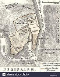 Map Of Israel Jerusalem 1865 Spruner Map Of Israel Canaan Or Palestine In
