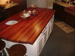 solid wood countertop on rustic wooden kitchen cabinet and brown