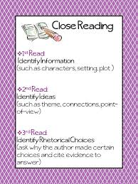 46 best close reading images on pinterest teaching ideas