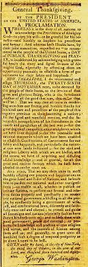 george washington s thanksgiving proclamation the b s report