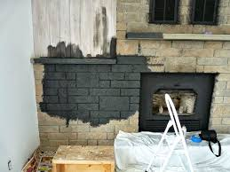 how to easily paint a stone fireplace charcoal grey fireplace makeover