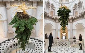 this upside down christmas tree puts a new spin on a holiday