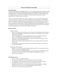 Event Planning Resume Example by 100 Sample Resume For Event Coordinator Cover Letter For