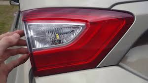 2012 ford fusion tail light bulb how to replace the rear reverse light on a 2012 2017 ford fusion
