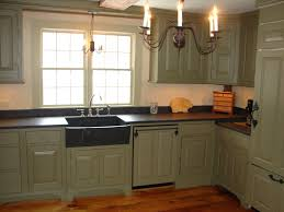 Farmhouse Kitchen Cabinet Captivating Black Color Kitchen Honed Granite Countertop Featuring