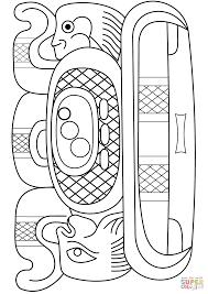 mayan symbol coloring page free printable coloring pages