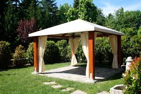 Small Gazebos For Patios by Interesting Home Back Yard Living With Black Vinyl Canopy Gazebo