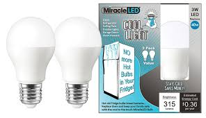 cool touch light bulbs miracleled 606500 refrigerator and freezer long life led energy