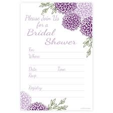 bridal shower invitations m u0026h invites