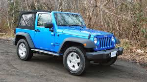 light blue jeep wrangler 2 door 2016 jeep wrangler sport s test drive review