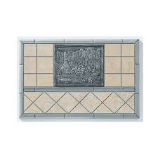 shop broan 20 in x 30 in cream stone kitchen backsplash at lowes com