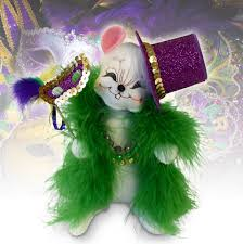 mardi gras doll 6in mardi gras mouse annalee dolls