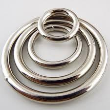 buy rings silver images 20 25 38 50mm welded solid heavy metal o rings silver chrome JPG