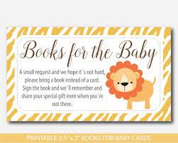 Baby Shower Invitations Bring A Book Instead Of Card Safari Baby Shower Book Request Safari Book Insert Safari Books
