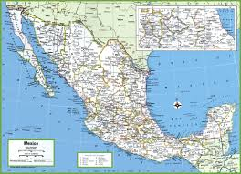 Cancun Mexico Map by Large Detailed Map Of Mexico With Cities And Towns