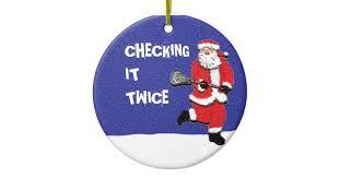 lacrosse santa collectible ceramic ornament zazzle