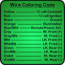 100 colour code for wiring toyota car audio speaker colour