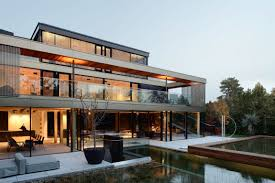 Contemporary Home All About The Outdoors Energy Efficient Multi Level Home In Vienna