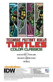 exclusive preview teenage mutant ninja turtles color classics vol