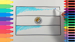 how to draw argentina flag drawing the argentinian flag art