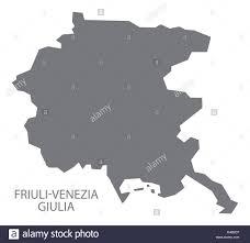 Map Italy Silhouettes Italian Cities by Friuli Venezia Giulia Italy Map In Grey Stock Vector Art