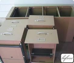Upcycled Filing Cabinet Before U0026 After Chad U0027s Filing Cabinet Planter U2013 Design Sponge