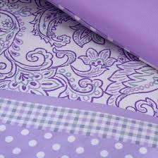 Purple Floral Comforter Set Angela Polka Dot Floral Comforter Set Purple Target