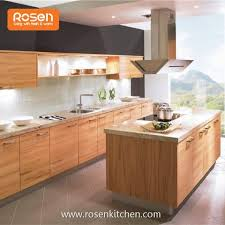 Ready Built Kitchen Cabinets China Customized Wood Veneer Kitchen Cabinets Manufacturers And