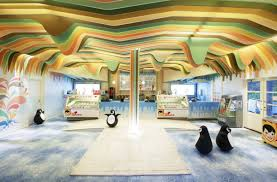 cool interior of ice cream shop by scenario interior architects