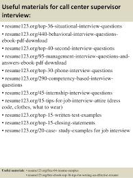 top 8 call center supervisor resume samples