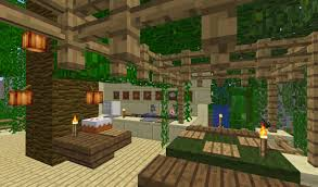 a nice jungle themed hotel mansion house with pictures