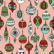 ornaments mint christmas ornaments holiday hand drawn