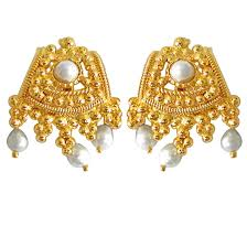 design of earrings gold temple design earrings buy temple design earrings online at best