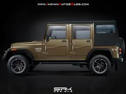jeep comanche pictures posters news mahindra thar 4 door variant side view this is not a production