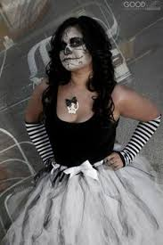 Day Of The Dead White Silver And Black Lace Corset Day Of The Dead Tulle Tutu Dress